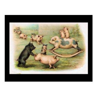 Piggyback Rides Post Cards