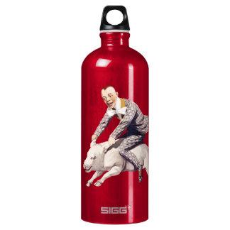 Piggybacking ...like a boss! aluminum water bottle