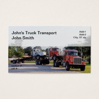 Piggybacking new truck chassis business card