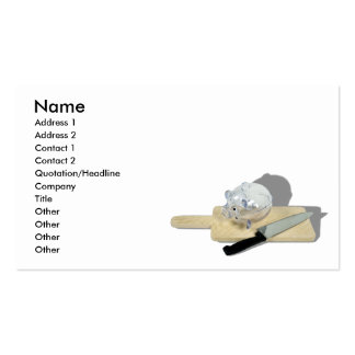 PiggyBankCuttingBoard092110, Name, Address 1, A... Double-Sided Standard Business Cards (Pack Of 100)