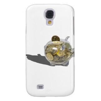 PiggyBankGoldCoins102410 Samsung Galaxy S4 Case