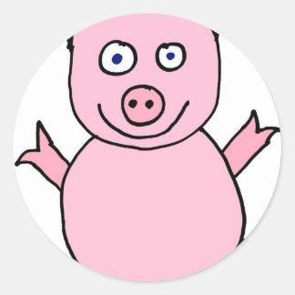Piggylicious Pig the piggy Classic Round Sticker