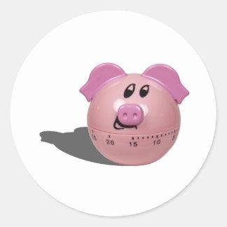 PiggyTimer103110 Classic Round Sticker