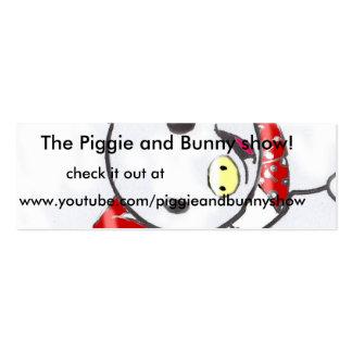 Pigie y tarjetas del anuncio de la demostración tarjetas de visita mini
