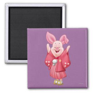 Piglet 10 2 inch square magnet