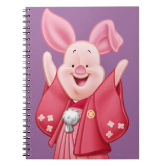 Piglet 10 spiral note book
