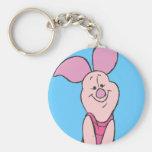 Piglet 3 basic round button keychain