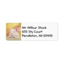 Piglet address label