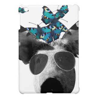 Piglet And Butterfly Pig Animal Cover For The iPad Mini