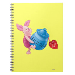 Photo Notebook (6.5' x 8.75', 80 Pages B&W) with Piglet of Winnie the Pooh with Honey Pot design