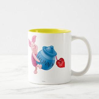 Piglet and Hunny Pot Two-Tone Coffee Mug