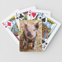 Piglet Bicycle Playing Cards