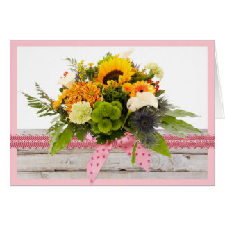 Piglet bunch or flowers for any occassion card