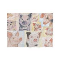 Piglet Collage fleece