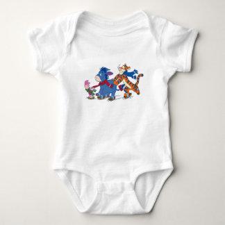 Piglet, Eeyore, and Tigger Skating Baby Bodysuit