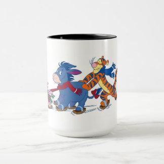 Piglet, Eeyore, and Tigger Skating Mug