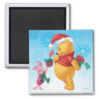 Piglet Gifting Pooh Magnet