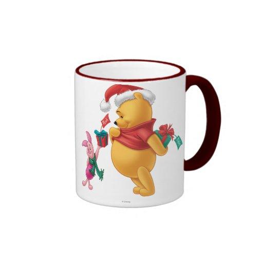 Piglet Gifting Pooh Coffee Mugs