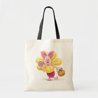Piglet in Flower Costume Tote Bag