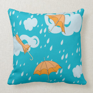 Piglet in the Rain Throw Pillow