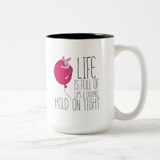 Piglet | Life is Full of Ups & Downs Two-Tone Coffee Mug