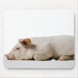 Piglet Lying Down Profile Mouse Pad
