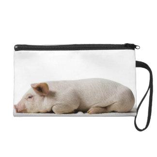 Piglet Lying Down Profile Wristlet