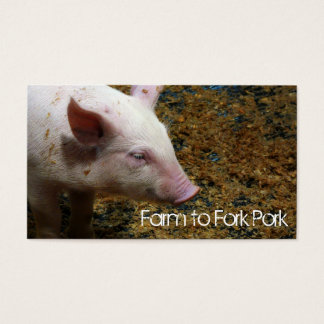 Piglet Pig  Farming Agricultural Business Card