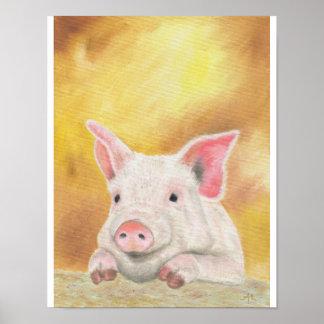 "Piglet print 11""x14"""