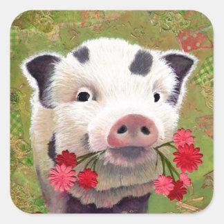 Piglet Square Sticker