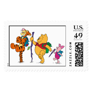 Piglet, Tigger, and Winnie the Pooh Hiking Postage