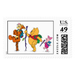 Piglet, Tigger, and Winnie the Pooh Hiking Postage Stamps