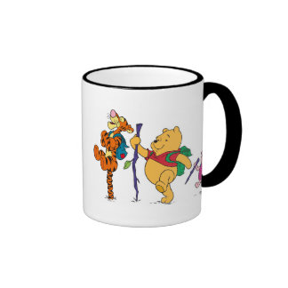 Piglet, Tigger, and Winnie the Pooh Hiking Ringer Mug
