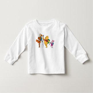 Piglet, Tigger, and Winnie the Pooh Hiking T Shirt