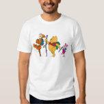 Piglet, Tigger, and Winnie the Pooh Hiking T-shirts