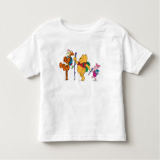Piglet, Tigger, And Winnie The Pooh Hiking Toddler T-shirt at Zazzle