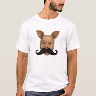 Piglet With Mustache T-Shirt