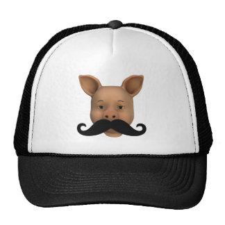 Piglet With Mustache Trucker Hat
