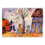 Piglets Trick or Treat Greeting Cards