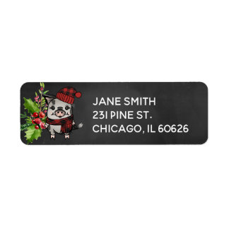 Pigmas Buffalo Plaid  Address Label