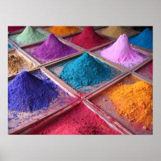 Pigmentos indios póster