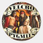Pigmeos del Velcro Etiqueta Redonda