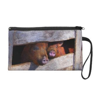 PigPen Pair Peeking Piggies Wristlet