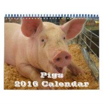 Pigs 2016 Calendar