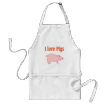 Pigs Adult Apron