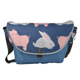 Pigs and Bunnies Courier Bags
