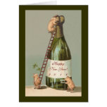 Pigs and Champagne; Cute 2016 New Year's Card