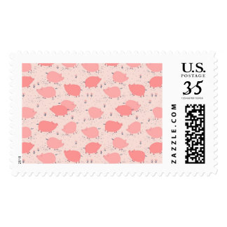 Pigs And Flowers Postage