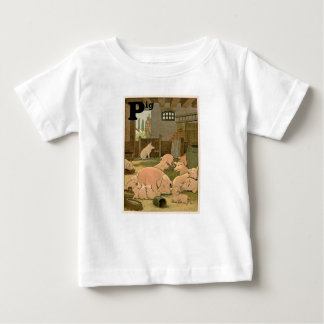 Pigs and Piglets on the Farm Baby T-Shirt