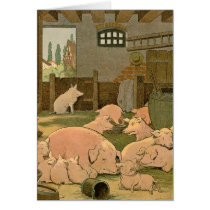 Pigs and Piglets on the Farm Card